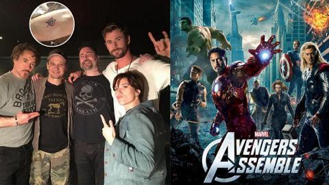 【復仇者聯盟3】約定紋Avengers圖案 元祖成員友情真的假不了