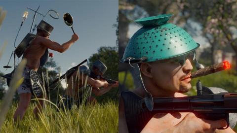 限時免費下載惡搞版食雞Game 平底鍋變頭盔吊鹽水補血!
