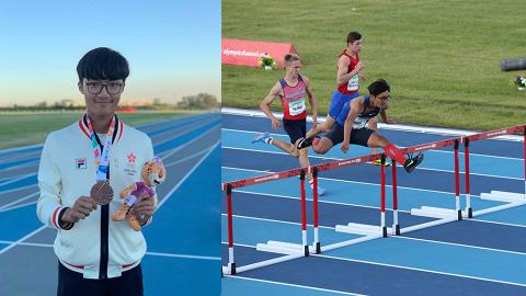 香港首面青奧田徑獎牌!少年跑將王珞僖出戰青奧110米欄賽奪銅