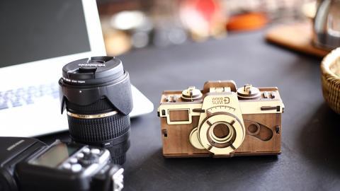復古設計木製菲林相機 DIY自己砌+無需用電!