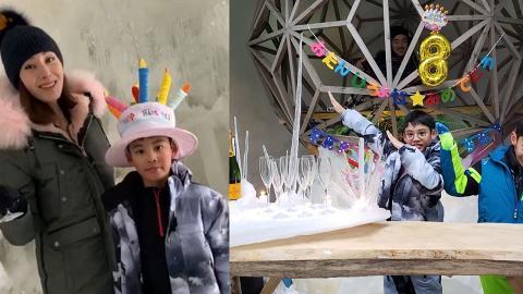 李嘉欣post囝囝正面照賀8歲生日 Jayden似足爸爸許晉亨
