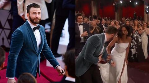【奧斯卡2019】「美國隊長」反應夠快攙扶險跌倒女星 紳士舉動獲網友大讚