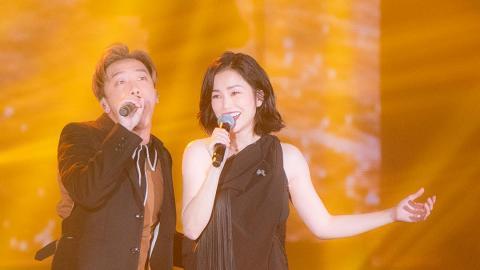 【KKBOX香港風雲榜】謝安琪演唱耳機失靈 Sunny@Supper Moment走近做咀型解困