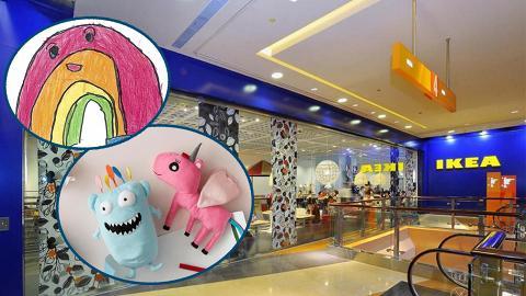 IKEA全球毛公仔繪畫比賽 香港5歲男童獲選!作品將推出實體公仔 下年限定發售