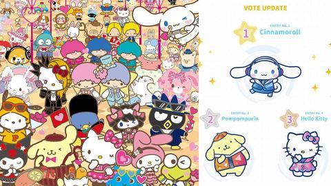 Sanrio人物大賞首日投票結果出爐!80位入選角色爭第一/香港區獨家3倍票數