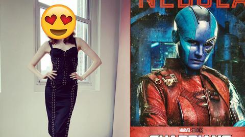 【復仇者聯盟4】Nebula藍色皮膚下是個美人胚子 為配合造型二話不說剃頭演出
