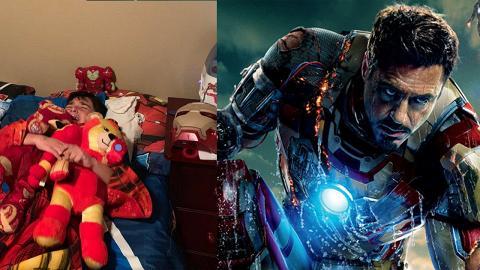 【復仇者聯盟4】IronMan死訊感痛心 6歲男孩攬鐵甲奇俠公仔痛哭:想他回來!