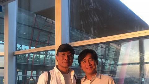 兩個Tony Leung!梁家輝梁朝偉機場相遇合照 劉嘉玲笑稱:Double Tony Trouble