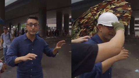 前線報導期間獲年青示威者贈雨傘、頭盔 美國CBS台記者讚揚年青示威者友善