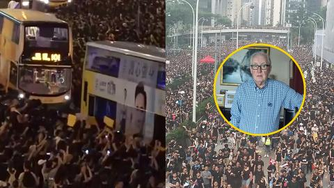 城巴之父李日新讚揚年輕示威者 「換轉其他城市已經有巴士被燒毀」