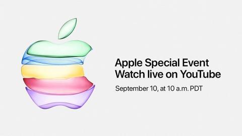 【蘋果發佈會】Apple確實iPhone 11發佈會日期首次使用YouTube直播!內附連結