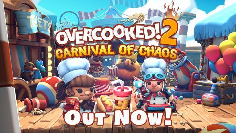 【Switch】《Overcooked! 2》馬戲團新主題DLC 炮彈飛人機關+小丑/牛仔新廚師