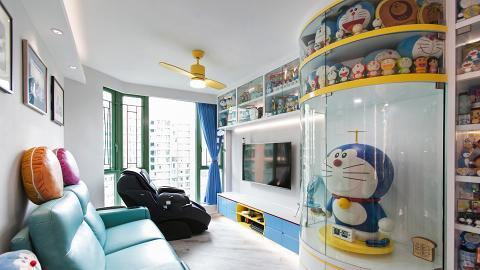 香港755呎單位打造多啦A夢博物館 全屋傢俬變法寶/竹蜻蜓風扇燈/隨意門