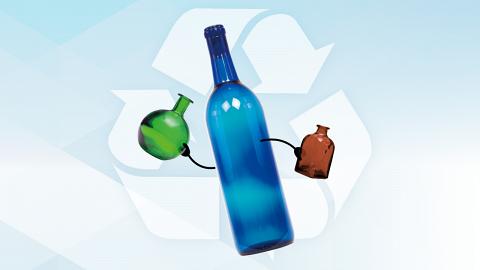 左手,右手,一齊玻璃回收