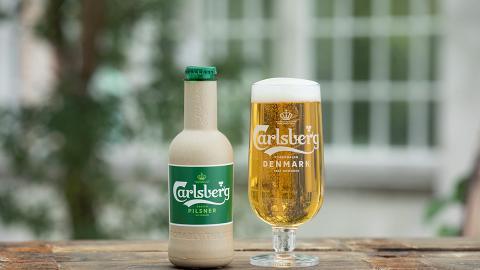 嘉士伯宣佈成功研發紙製啤酒瓶 全球第一款木纖維製100%可回收環保啤酒瓶!