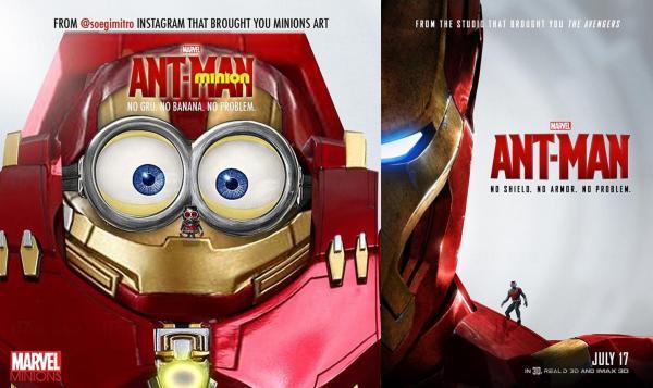 Minions版Ant-Man v.s.原版(圖:IG@soegimitro/官方圖片)