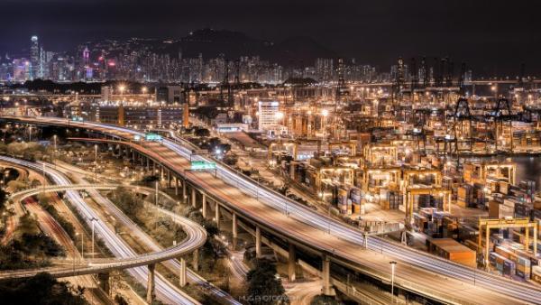 屬於我們香港人的特色夜景-【葵青貨櫃碼頭】