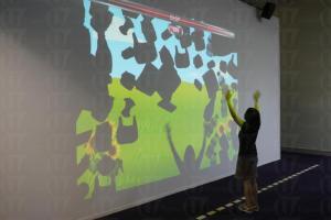 場內有不少 3D 遊戲讓大家更易了解環保再造業。