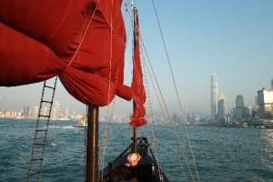 除了可飽覽維港美景外,遇上大浪的日子更有坐海盜船的刺激感。
