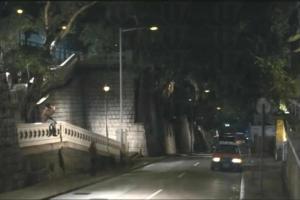 電影中兩場在佐治公園取景的片段,都是在晚上拍攝。(電影片段)