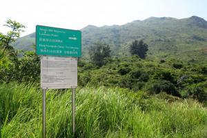 看到指示牌後轉入山路,此路還可前往老虎頭。