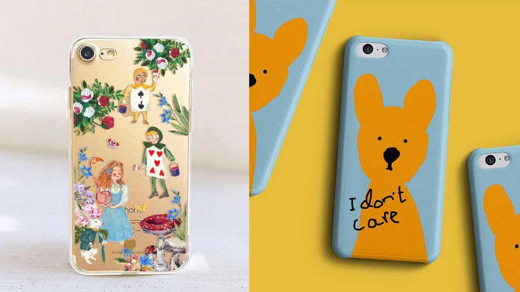 24款pinkoi香港設計泰國直送特色手機殼水彩木紋卡通童話食物設計