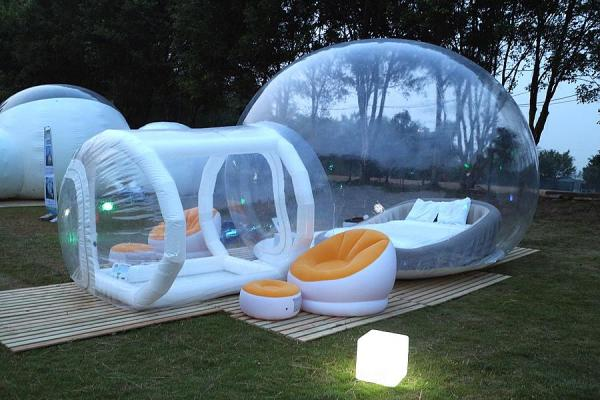 名樂漁莊透明露營酒店
