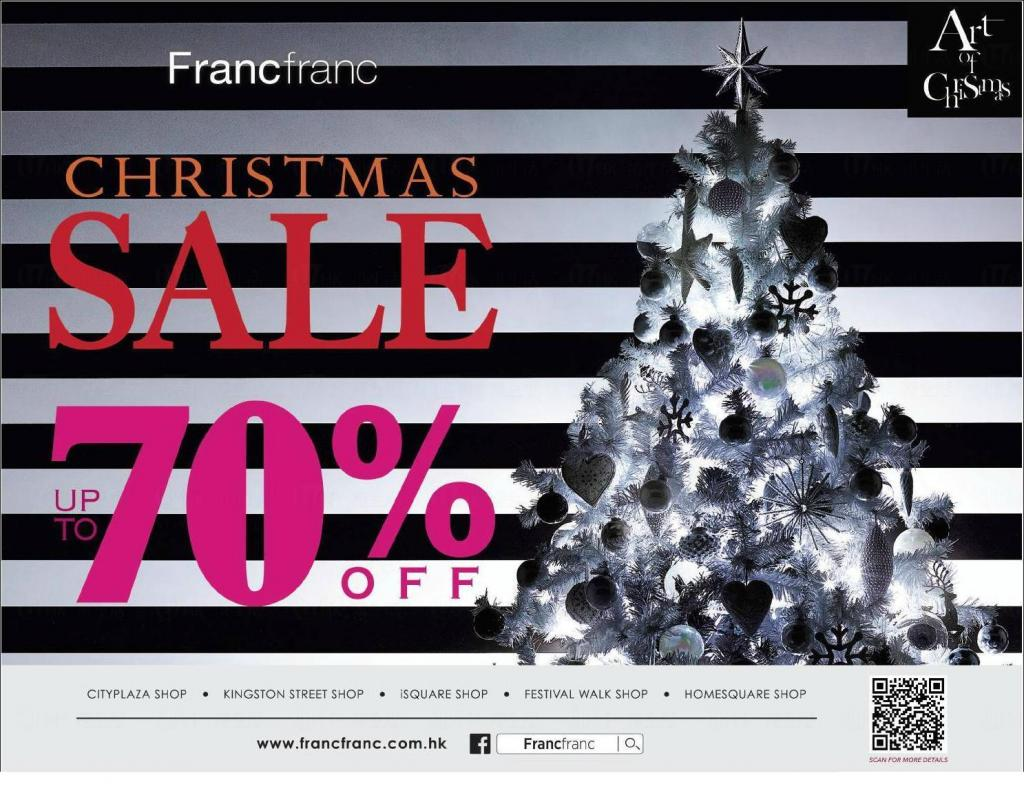 Francfranc聖誕優惠 全線貨品低至三折