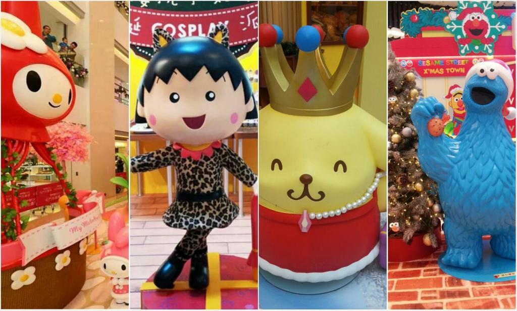 2014年全港商場 聖誕卡通主題大全