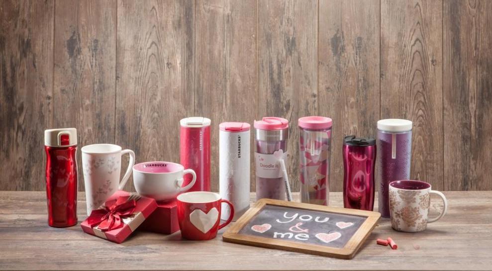 Starbucks推新年情人節限量版咖啡杯