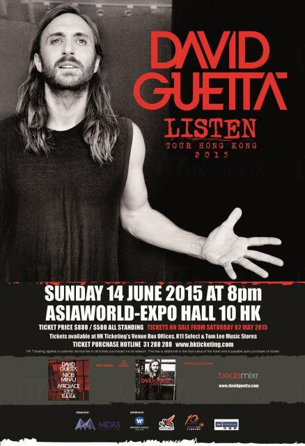 David Guetta Listen Tour Hong Kong 2015