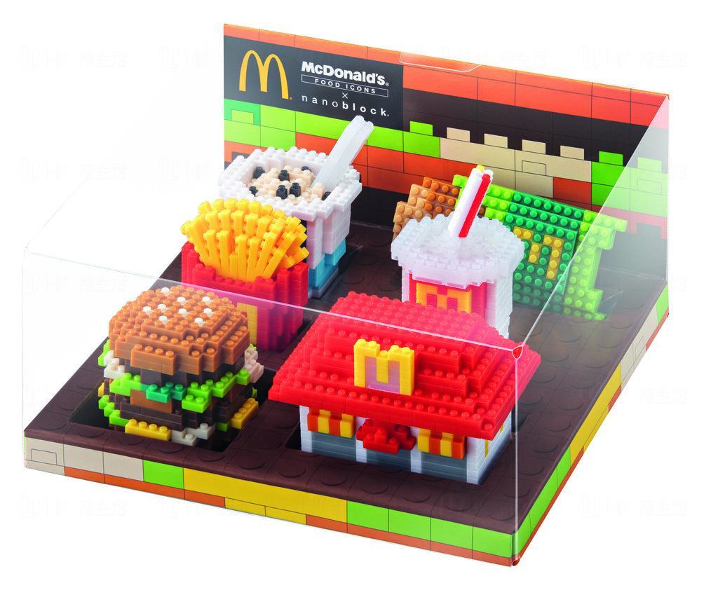 期間限定!麥當勞推經典食品nanoblock小積木