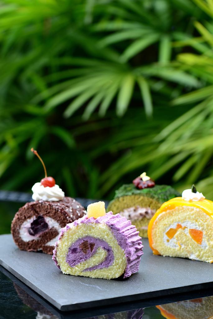 期間限定!沙田凱悅酒店推出紫薯糖薑瑞士卷