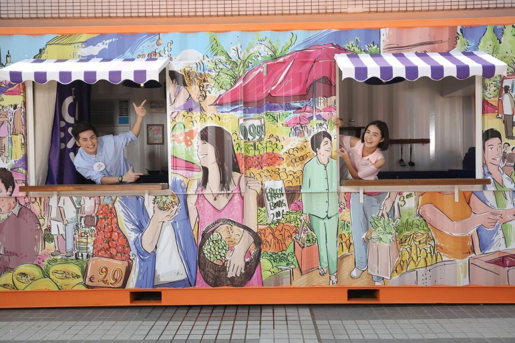 全港首個貨櫃美食派對 紫薯筒20蚊有得食