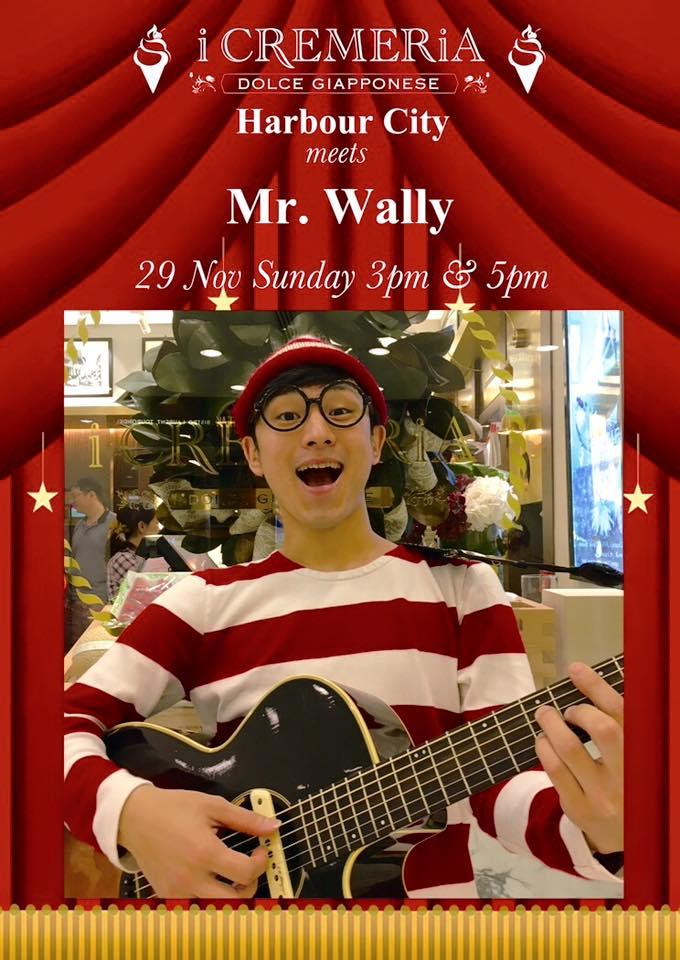 Mr. Wally出沒!現身尖沙咀i CREMERiA表演