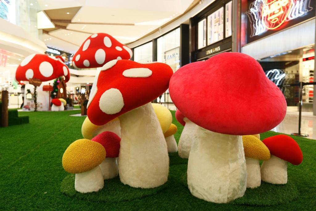 好溫暖! 元朗商場現100粒毛氈冷球蘑菇
