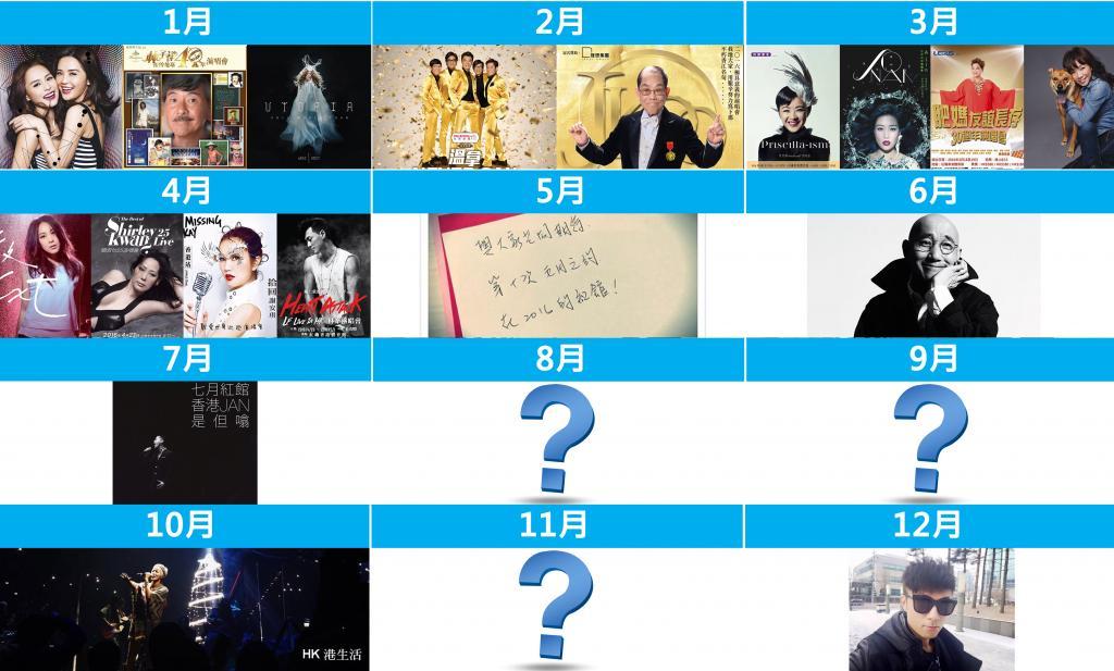 五月天林海峰又傳有霆鋒 2016紅館演唱會檔期大全