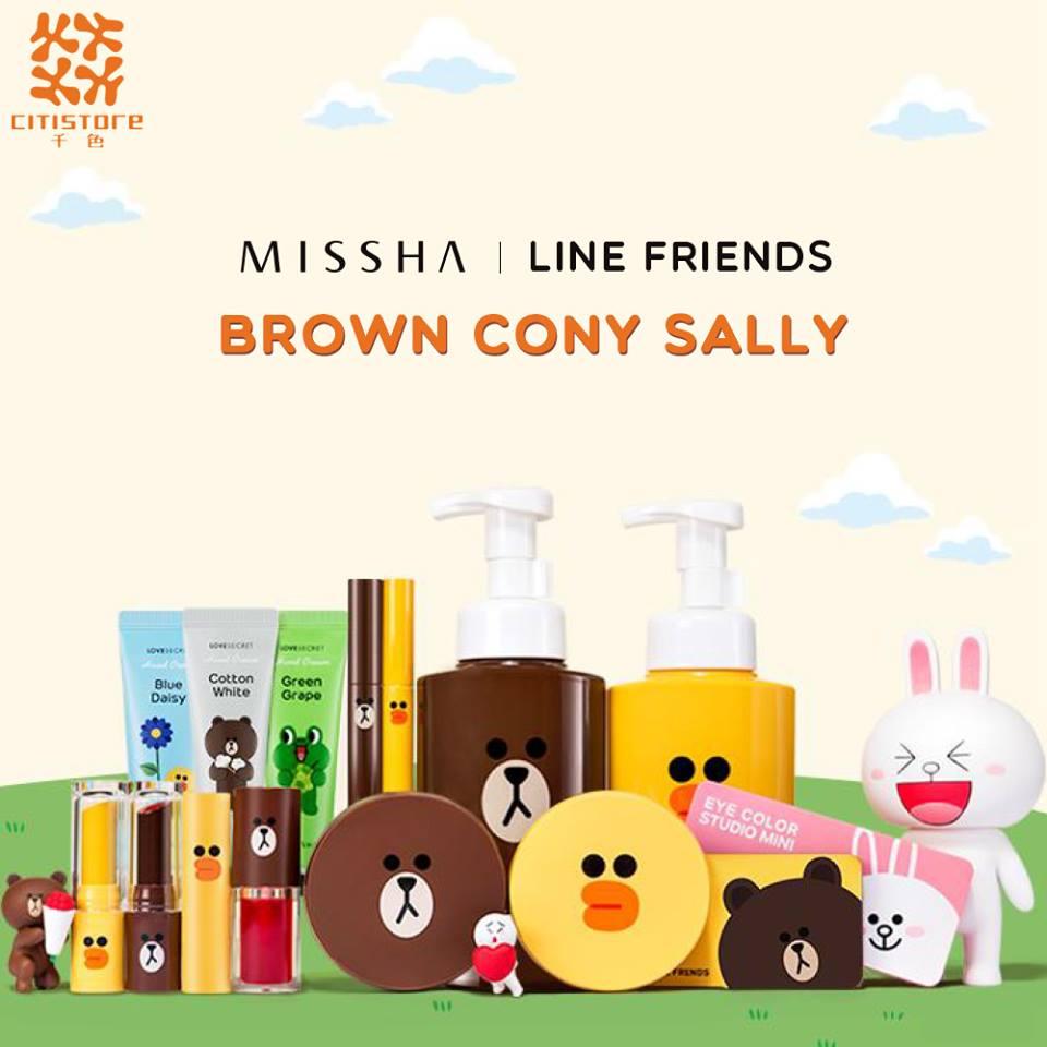 粉絲必like!LINE FRIENDS X Missha系列$28起