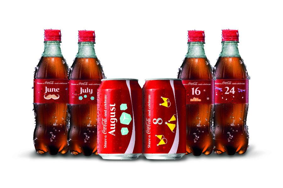 月份、日期版任你砌!可口可樂新包裝登場