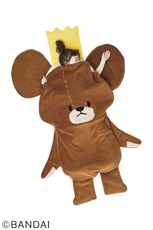 鑽進去吧!小熊Jackie造型睡袋登場