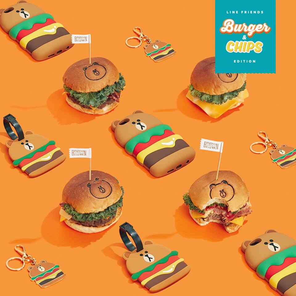 LINE FRIENDS快餐都撈埋?萌爆「Burger&Chips」系列登場