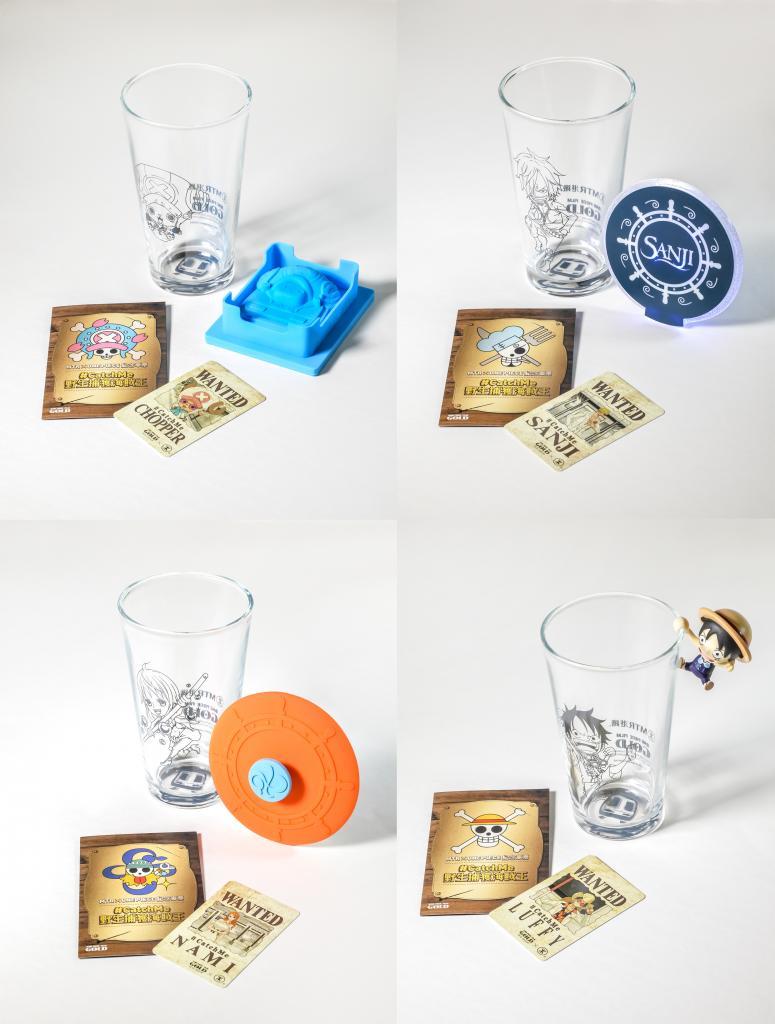 玻璃杯連精品組合!海賊王紀念車票套裝