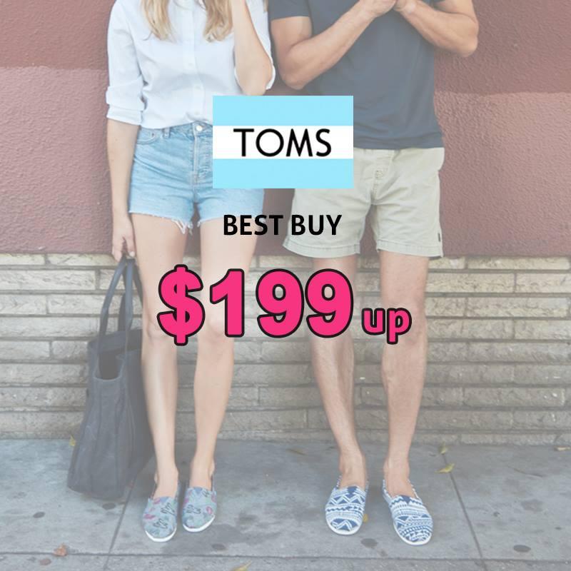 最平低至$199!指定專門店4折買到TOMS布鞋