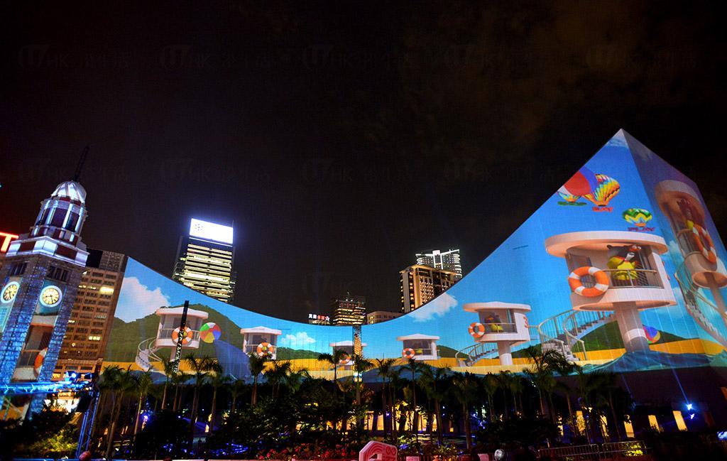 尖沙咀3D光雕匯演 鐘樓文化中心換夏日新裝