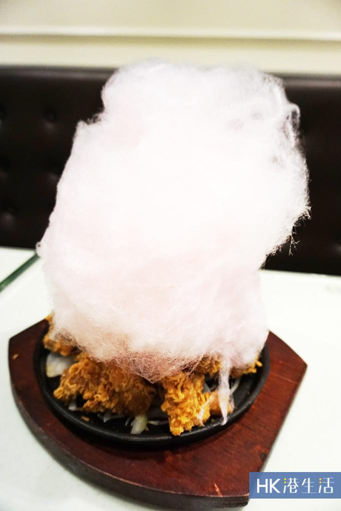 盞鬼新食法!火燒棉花糖炸雞