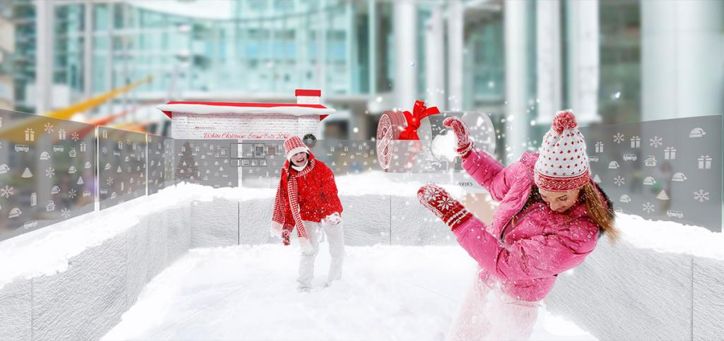 玩雪球大戰!全港首個戶外擲雪球場地