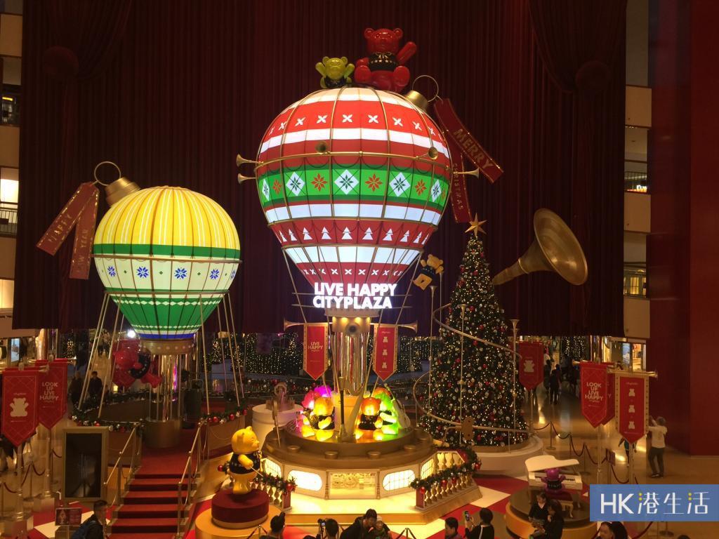 10米高熱氣球音樂盒!太古城中心熊天而降樂聖誕