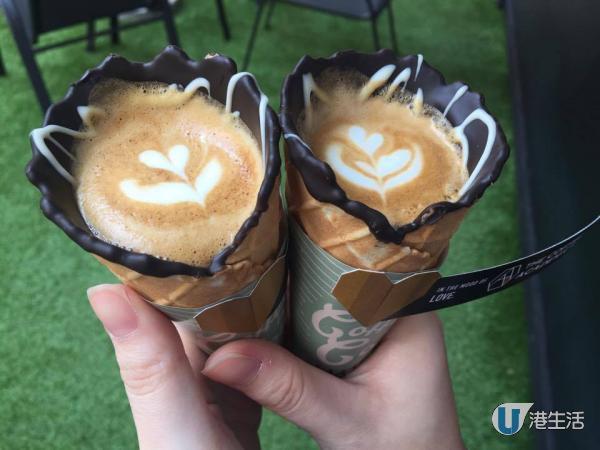 流動咖啡站現身!街頭免費歎雪糕筒咖啡
