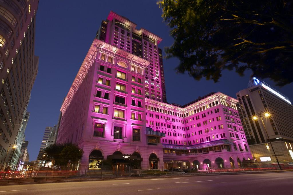 10月限定粉紅半島!粉紅主題下午茶+粉紅燈光牆身