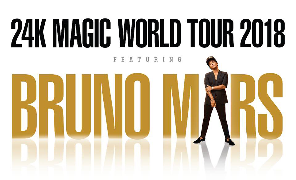 《Bruno Mars 24K Magic World Tour》2018年4月登陸澳門!